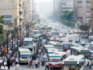 الناس والزحمة فى القاهرة