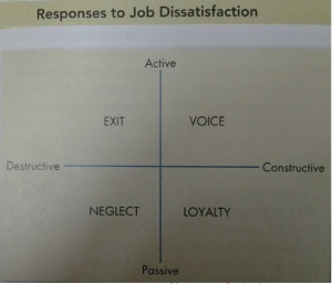Response to job dissatisfaction